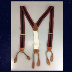 Brooks Brothers Red Blue Stripes Suspenders